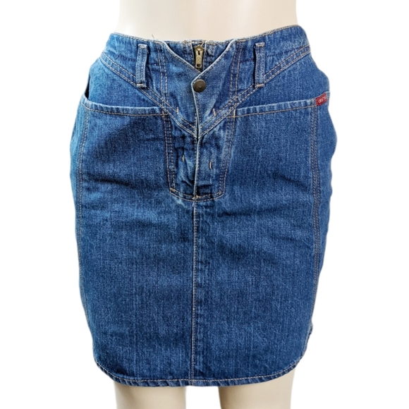 90s Vintage Denim Mini Skirt